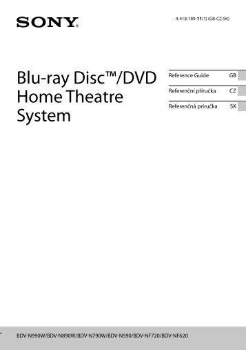 Sony BDV-N990W - BDV-N990W Guide de référence Tchèque