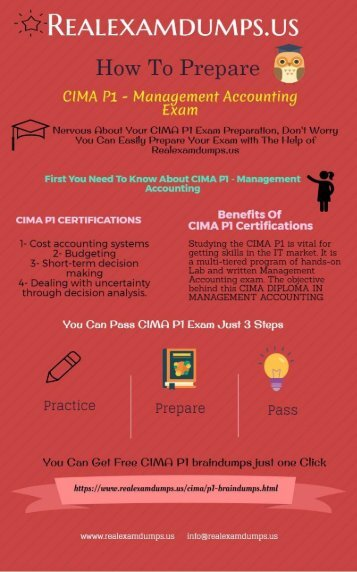 Pass Your CIMA P1 Actual Test And Get Certified | Practice Question Answers