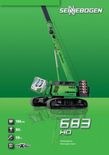80 t 58 m 186 kW - SENNEBOGEN Maschinenfabrik GmbH