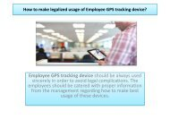 How to make legalized usage of Employee GPS tracking device