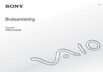 Sony VGN-Z41ZRD - VGN-Z41ZRD Mode d'emploi Suédois