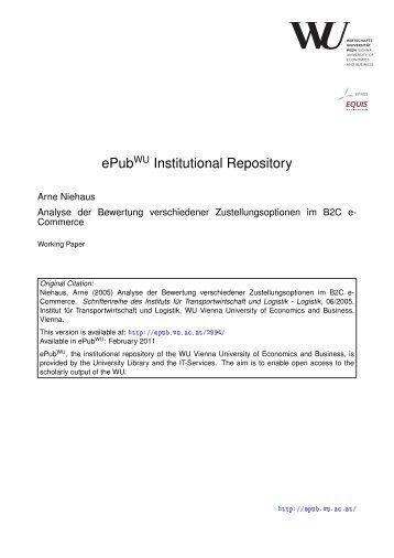 Analyse der Bewertung verschiedener Zustellungsoptionen im B2C e