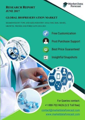Global Biopreservation Market Drivers and Restraints 2021