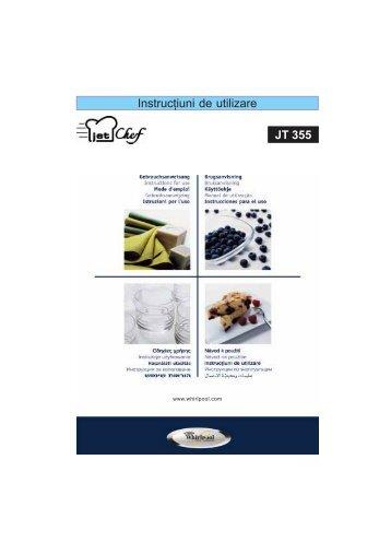 KitchenAid JT 355 WH - JT 355 WH RO (858735599290) Istruzioni per l'Uso