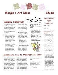 Tips and Techniques - Margies Art Glass Studio