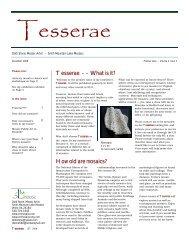 Tesserae - Dotti Stone, Mosaic Artist