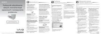 Sony VPCEB4L1E - VPCEB4L1E Guide de dépannage Polonais