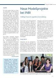 Aktuelle INBI-Projekte werden vorgestellt