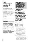 Sony FDR-AX53 - FDR-AX53 Consignes d'utilisation Slovénien - Page 2