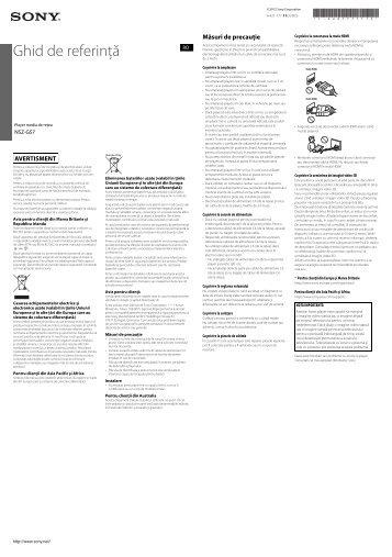 Sony NSZ-GS7 - NSZ-GS7 Guide de mise en route Roumain