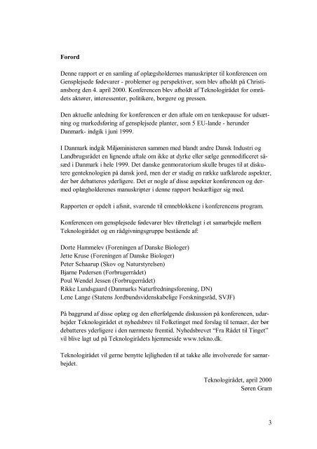 Udskrift af oplægsholdernes manuskripter fra ... - Teknologirådet