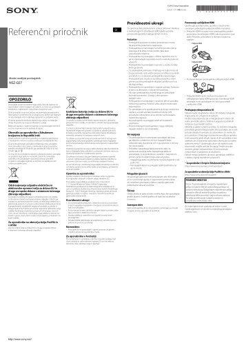 Sony NSZ-GS7 - NSZ-GS7 Guide de dépannage Slovénien
