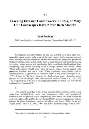 31 Tracking Invasive Land Covers in India, or Why ... - Praxis (e)Press