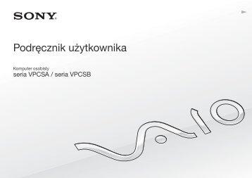 Sony VPCSB2S9E - VPCSB2S9E Mode d'emploi Polonais