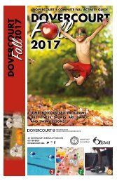 Dovercourt Fall 2017 Program Guide