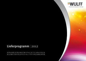 Lieferprogramm | 2012 - bei WULFF