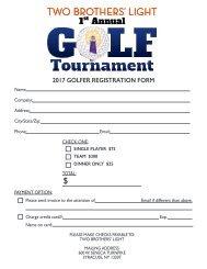 Golfer Registration Form