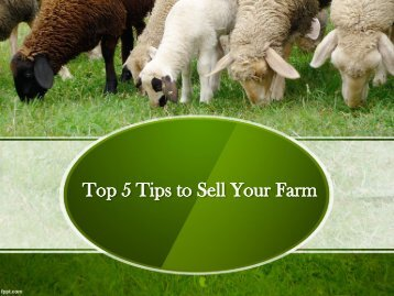 Top 5 Tips to Sell Your Farm