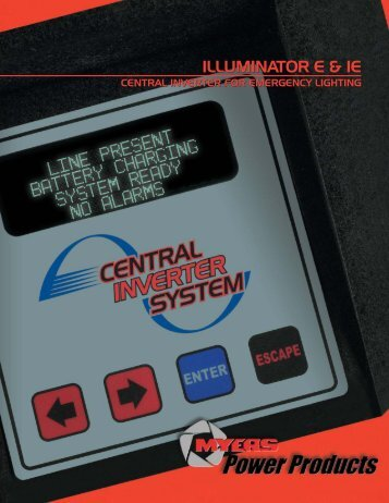 Illuminator E & IE Catalog PDF - Myers Power Products, Inc.
