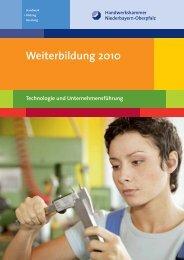 Handwerk Teil II - Meisterschulen