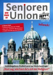 Veranstaltungen - Seniorenunion Berlin
