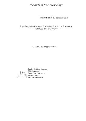 Stan Meyer Info - Practical Guide to Free-Energy Devices