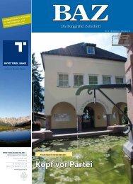 Kopf vor Partei - BAZ - Die Burggräfler Zeitschrift