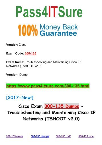 New Pass4itsure Cisco 300-135 Dumps PDF