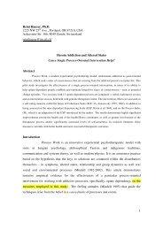 article - Process Work, Reini Hauser
