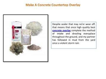 make a concrete countertop overlay