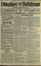 Obwaldner Volksfreund 1938