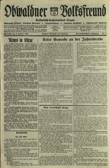 Obwaldner Volksfreund 1939
