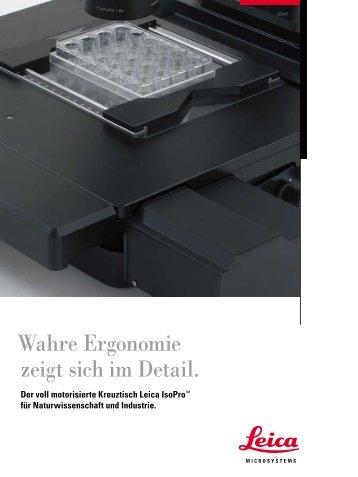 Wahre Ergonomie zeigt sich im Detail. - Leica Microsystems
