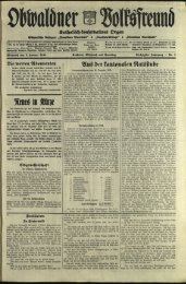 Obwaldner Volksfreund 1940