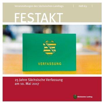 """Dokumentation des Festaktes """"25 Jahre Sächsische Verfassung"""""""