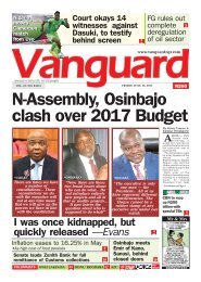 16062017 - N-Assembly, Osnbajo clash over 2017 Budget