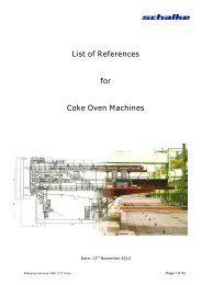 List of References for Coke Oven Machines