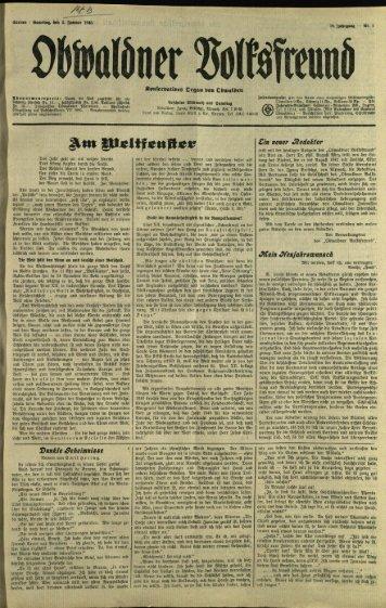 Obwaldner Volksfreund 1948