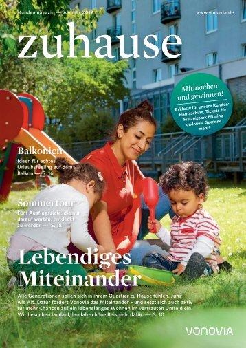 """Vonovia Kundenmagazin """"zuhause"""" Sommer 2017"""