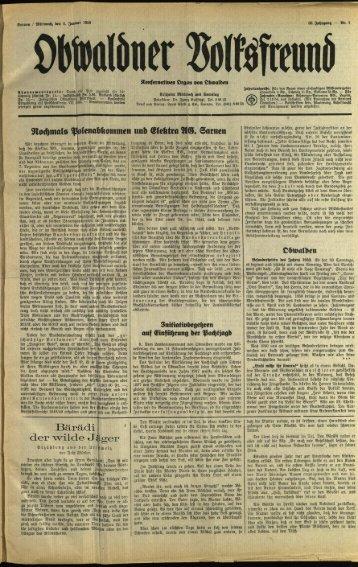 Obwaldner Volksfreund 1950
