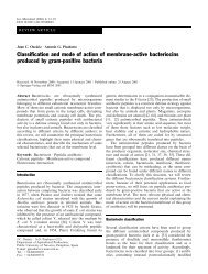 Classi®cation and mode of action of membrane-active bacteriocins ...