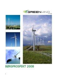 BØRSPROSPEKT 2008 - Green Wind Energy
