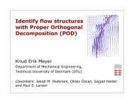 Identify flow structures with Proper Orthogonal ... - DANSIS