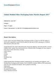 Global Molded Fiber Packaging Sales Market Report 2017
