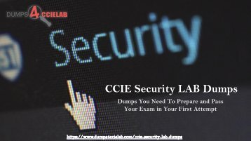 CCIE Security LAB Dumps