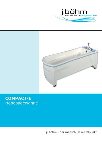 Compact-E Hebebadewanne Prospekt