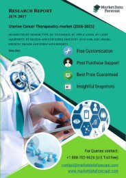 Uterine Cancer Therapeutics  market report by 2021