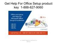 Office.comSetup product key - 1-888-827-9060