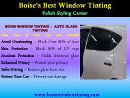 Home Window Tinting Boise| Boise Window Tinting