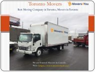 Best Movers in Toronto | Moving Company | Toronto Moving Services